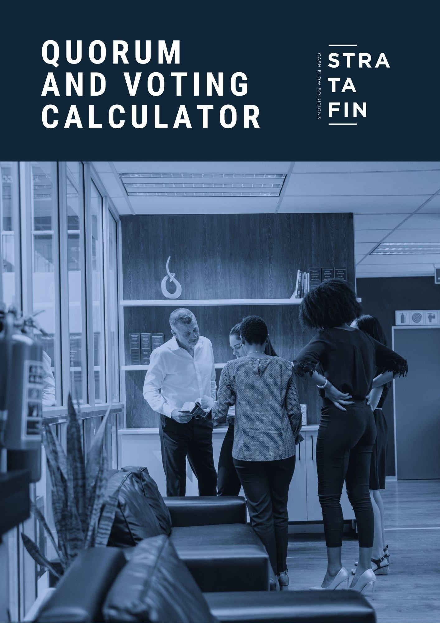 Quorum and voting calculator